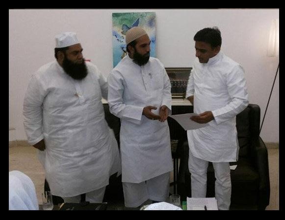 Raped imam with Akhilesh Yadav
