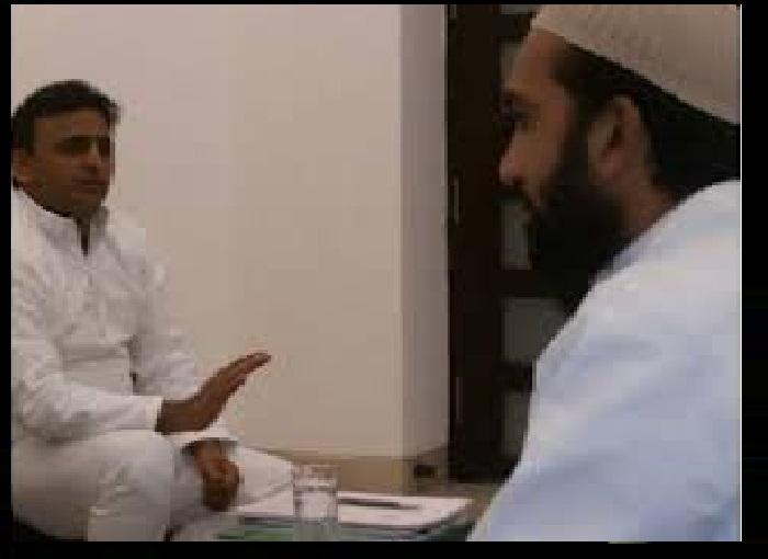 Raped imam with CM Akhilesh Yadav