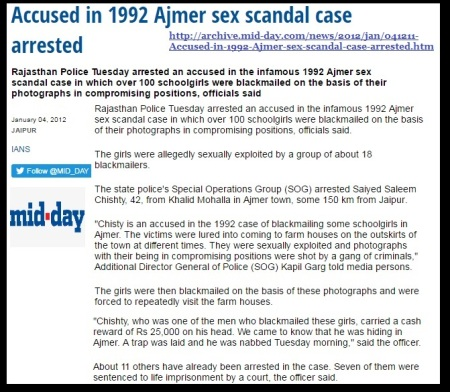 Accused 1992 Ajmer sex scandal case arrested - Midday 2012