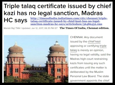 talaq-certificates-issued-by-cheif-kazi-no-legal-sanction-toi-high-court-12-01-2017