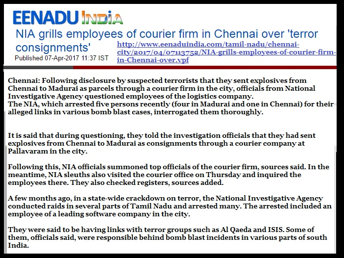 Courier co under scanner by NIA