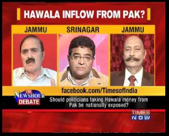 How hawala money is routed from Rawalpindi to Srinagar