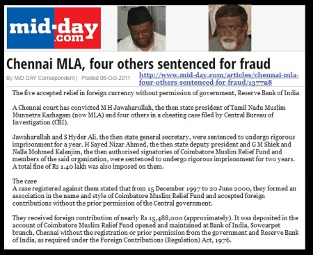M H Jawahirullah and four others sentenced for fraud - MIDDAY