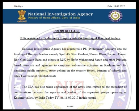 NIA press release 19-05-2017