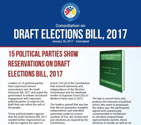 Pakistan draft electoral bill, 2017