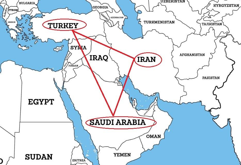 Arabia, Turkey map