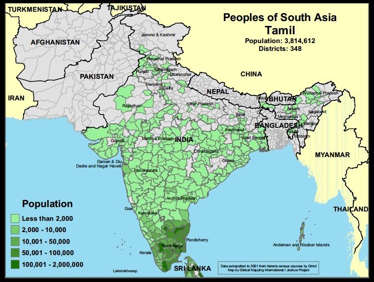 Tamil muslim map, Joshua project
