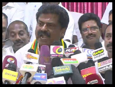 Thiruma, frenzied speech- Eswaran responded