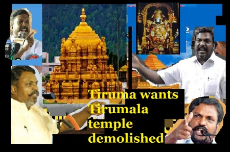 Tiruma wants tirumala temple demolished