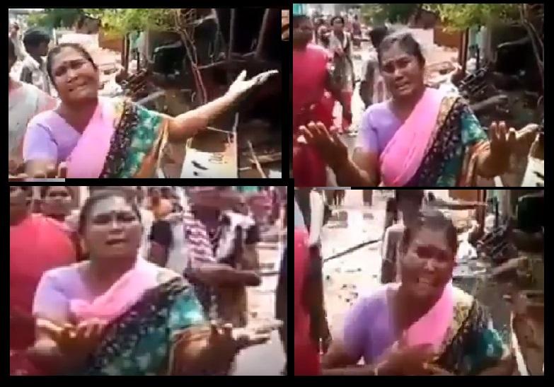 Bomminayakanpet-woman-crying as she lost- 05-05-2018-3