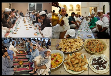 Fasting cum feasting by Muslims
