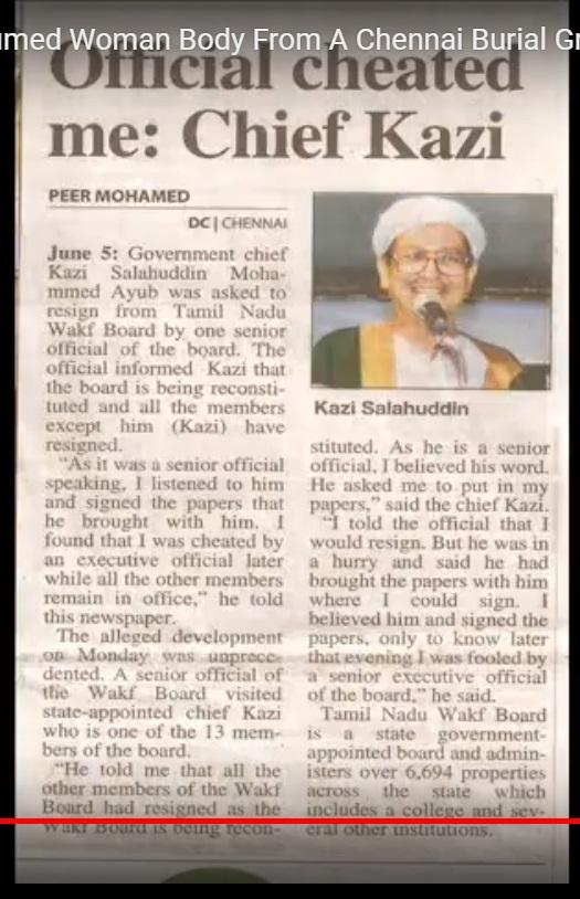 Khaji removed, Deccan Chroniclel, 07-06-2009-3