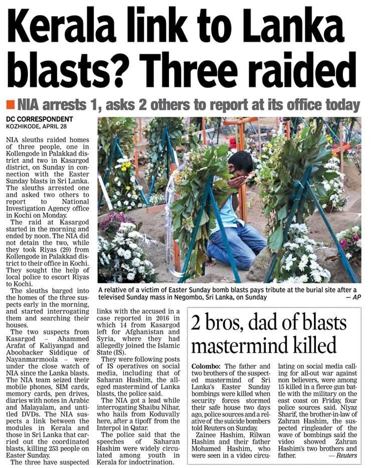 29-04-2019 Lankan blast link with Kerala.3