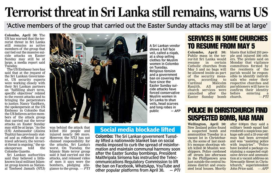 Terror threat remains in Lamka 01-05-2019