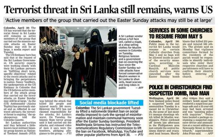 Terror threat remains in Lamka 01-05-2019