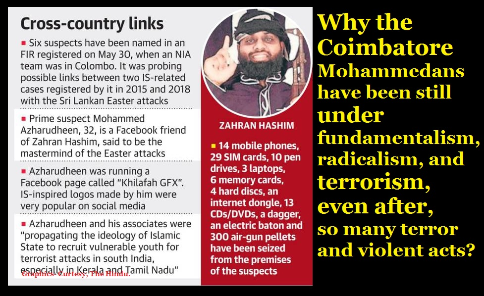 Sri Lankan blasts linked with Coimbatore, the Hindu