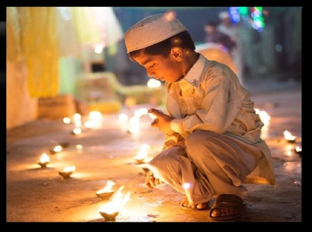 Bara Rabi Awwal how celebrated - a boy lighting