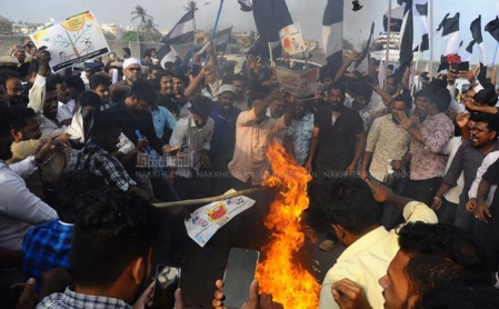 Muslims - Modi, Amit Shah effigy burnt-2