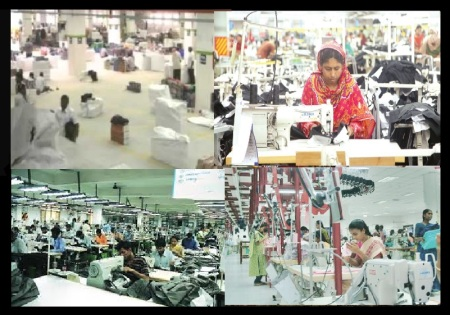 Bangla wokers in Tamilnadu textile units