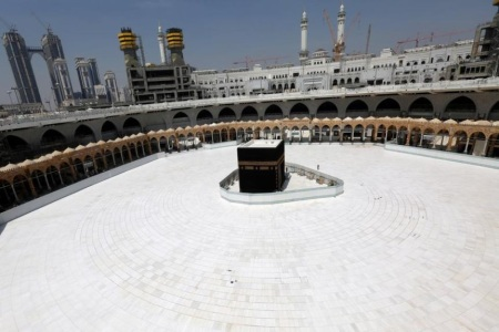 Empty space arond Kaba in Mecca